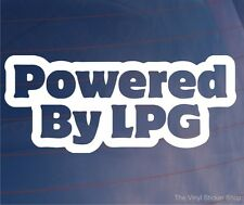 POWERED BY LPG Novelty Car/Van/Forklift/Window/Bumper Vinyl Sticker/Decal