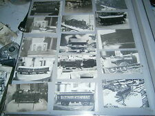 Lot de 27  photos Jouets ancien gare train locomotive wagon Markling  Bing  etc