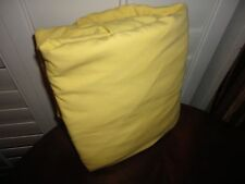"JC PENNEY SUNSHINE YELLOW QUEEN FITTED SHEET COTTON BLEND 15"" POCKETS"