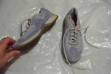 women hush puppies hp360 blue suede & fabric lace up shoes Size 7.5