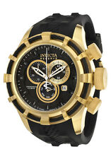 New Mens Invicta 15786 Bolt Reserve Chronograph Black Rubber Strap Watch