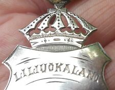 1892 IOLANI PALACE Queen Liliuokalani antique vtg hawaiian hula music jewelry