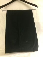 Luciano Barbera Pants Black Corduroy Trousers Italy Size 50 34