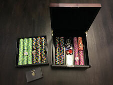 New Paulson Copaq President casino chips set New Yorker $1000 $500 $100 $25 $5