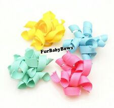 10 cute color Korkie Curly Puppy dog grooming Bows Shih-tzu Maltese Yorkie band