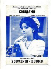 CORRIAMO#Spartito Souvenir-Duomo 1967# Isabella Iannetti-G.Argenio-Cassano-Conti