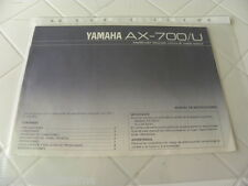 Yamaha AX-700/U  Owner's Manual  Spanish Language