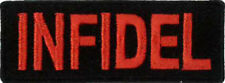 "INFIDEL Embroidered Patch 7CM X 2.5CM (2 3/4"" X 1"")"