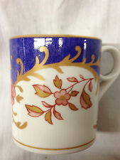 WEDGWOOD ARCHIVE MUGS JAPONICA MUG 8 OZ PINK & GOLD FLORAL PURPLE GOLD TRIM