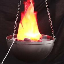 LED Hanging Fake Flame Lamp Torch Light Fire Pot Bowl Halloween Decorations hb