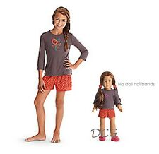 American Girl CL LE SAIGE SET PAJAMAS SIZE XS (6) for Girls & Dolls Matching NEW