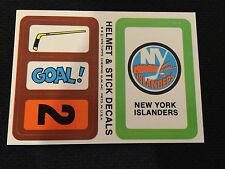 1978 NY ISLANDERS HOCKEY CARD STICKER INSERT NEW !! TOPPS !