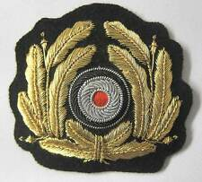 German WW2 Kriegsmarine Badge Wreath Officers Bullion cap WWII Kranz Navy WWII