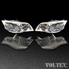2003-2007 Saturn Ion Ion-2 Ion-3 Headlight Lamp Clear lens Halogen Coupe Pair