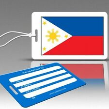 TagCrazy Luggage Tags, Flag of the Philippines, Durable Plastic Loops-1 Pk