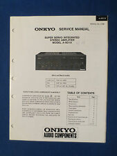 ONKYO A-8019 INTEGRATED AMPLIFIER SERVICE MANUAL ORIGINAL FACTORY ISSUE