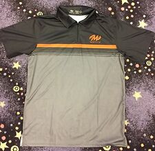 Motiv Momentum Polo - Black/Gray/Orange Size X-Large Bowling Shirt