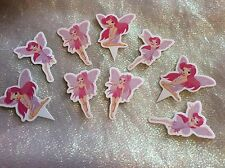 Pink Fairy Cake Picks /Flags Party Cupcake Decorations X 12