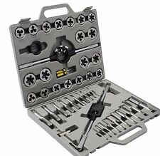 New 45pc standard sae Tap and Die Set Tungsten Steel alloy Tools Thread Case