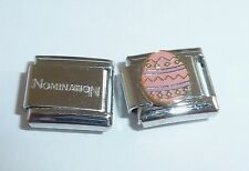 PINK EASTER EGG 9mm Italian Charm & 1x Genuine Nomination Classic Link HAPPY