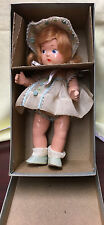 Vintage  Vogue  Ginny Composition toddles Doll In blue box 1940's