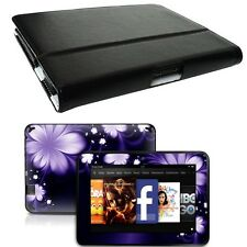 Genuine Leather Case Cover for Amazon Kindle Fire HD 7 inch + Skin Accessory B02