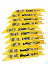 New 10 Pcs Dewalt 18 Tpi Bi-metal Sawzall Reciprocating Saw Blades-Free Shipping