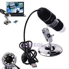 2MP 1000X 8 LED USB Digital Microscope Endoscope Camera Magnifier+Stand Adjusted