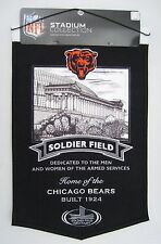 Chicago Bears Wool Soldier Field Stadium Banner NFL Football New Embroidered