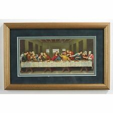 Da Vinci Last Supper Frame 13x8 Inches (08-030) NEW Under Glass Double Mat