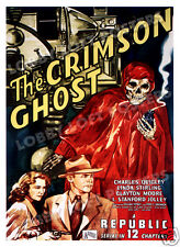 THE CRIMSON GHOST LOBBY CARD POSTER OS 1946 REPUBLIC SERIAL CHARLES QUIGLEY