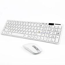 Clavier sans fil 2.4G blanc optique et souris USB Receiver Kit pour PC Laptop DC