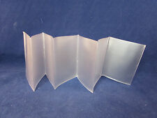 """SET OF TWO 6-Page Accordion Wallet Inserts Quality PVC Plastic Made in U.S.A.""""MI"""