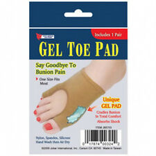 1 Pair Gel Toe Foot Pads Cushions Sore Toes & Bunions Pain Cover Protect Shock