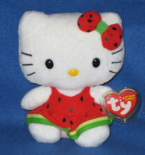 TY HELLO KITTY WATERMELON BEANIE BABY - MINT with MINT TAGS