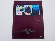 LIONEL TRAIN CATALOG 1980 ELECTRIC TRAIN COLLECTOR SERIES UNION PACIFIC RAILROAD