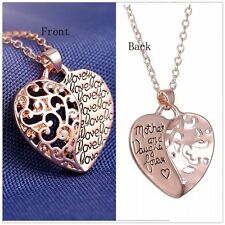 Fashion Heart Love 18k Rose Gold  Personalize love Necklace Pendant Gift jewelry