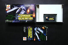 GRADIUS GENERATION shmup KONAMI GAMEBOY ADVANCE GBA JAPAN Very Good Condition