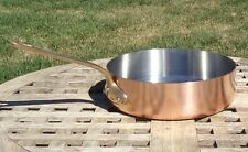 "Williams Sonoma Copper 8"" Saute Pan w/Stainless Steel interior, Made in France"