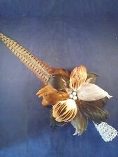 SALE~PHEASANT/ROOSTER FEATHER CHRISTMAS TREE TOPPER//LODGE/Taxidermy/Cabin/birds