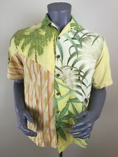 Tommy Bahama Silk Linen Hawaiian Shirt S Yellow Bird Aloha Camp Luau (H)