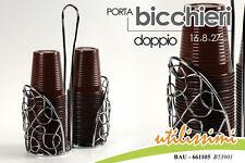 PORTA BICCHIERI DOPPIO 16*8*27CM BAU  661105