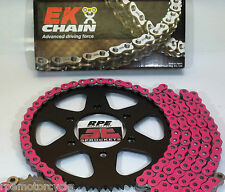 PINK EK X-RING SUZUKI SV650 '99/08 QUICK ACCELERATION CHAIN AND SPROCKETS KIT