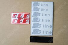 6x audi s-line superior cast vinyl brake caliper decals stickers * 4 couleurs *
