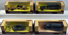DTE 4 FRANCE SOLIDO MILITARY LAND ROVER, CADILLAC STAFF CAR, JEEP AUTO-UNION NIB