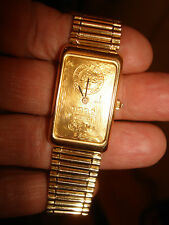 CORUM 10 GR INGOT 24K & 18K SOLID GOLD MECHANICAL WATCH & BRACELET 100.4 GRAMS