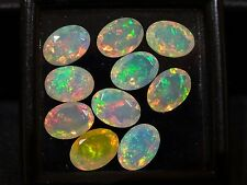 1 x FULL FIRE FACETED ETHIOPIAN WELO OPAL, 5x7mm, 0.5 carat - ONE STONE