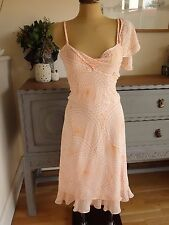 WHISTLES orange silk summer formal/weddding/holiday prom DRESS uk12  eu40 *bnwt*