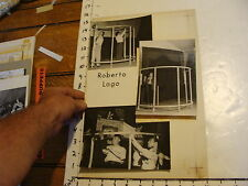Vintage MARIONETTE PHOTO, Stages: ROBERTO 3 pics setting up stage