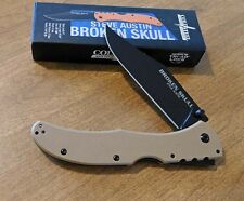 COLD STEEL New Coyote Tan Broken Skull II Black Plain CTS-XHP Blade Knife/Knives